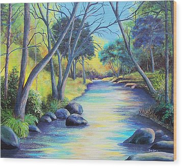 Tranquility Wood Print by Susan DeLain