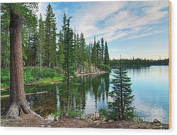 Tranquility - Twin Lakes In Mammoth Lakes California Wood Print