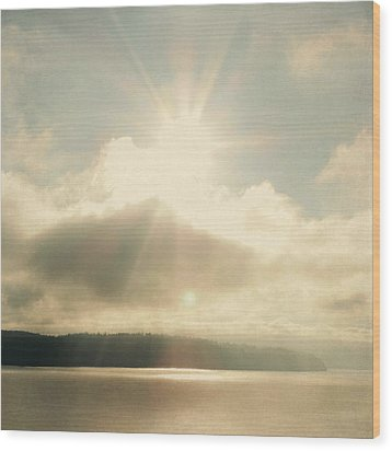 Wood Print featuring the photograph Transcend by Sally Banfill
