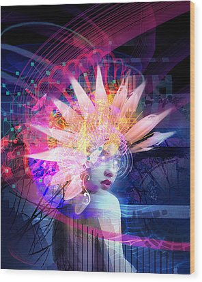 Transcendance Wood Print by Philip Straub