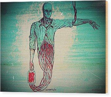 Transfusion Uninterrupted Wood Print by Paulo Zerbato