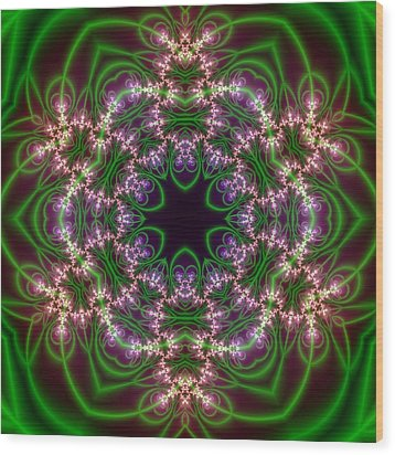 Transition Flower 6 Beats Wood Print