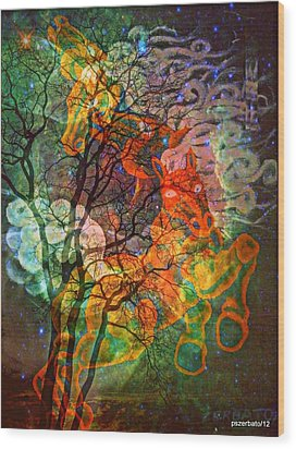 Transportation Perpetual Of The Up-and-coming Soul  Wood Print by Paulo Zerbato