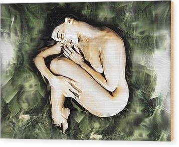 Traped Woman Wood Print by Naikos N