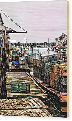 Traps Portland Maine Wood Print by Tom Prendergast