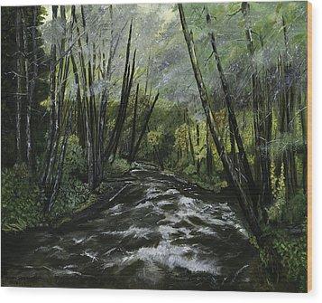 Trask River Wood Print