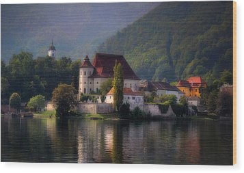 Wood Print featuring the photograph Traunkirchen - Austria by Ellen Heaverlo