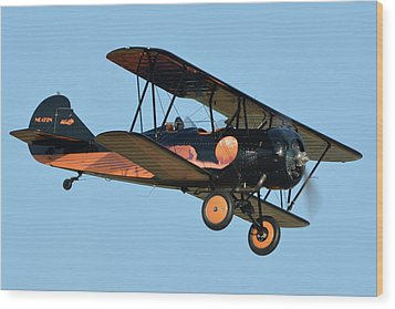 Travel Air D-4-d Nc472n Chino California April 29 2016 Wood Print by Brian Lockett