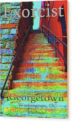 Travel-exorcist Steps Wood Print by Jost Houk
