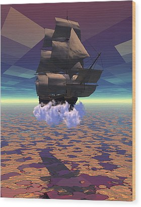 Travel In Another Dimension Wood Print by Claude McCoy