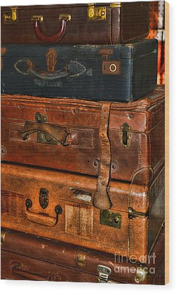 Travel - Old Bags Wood Print by Paul Ward
