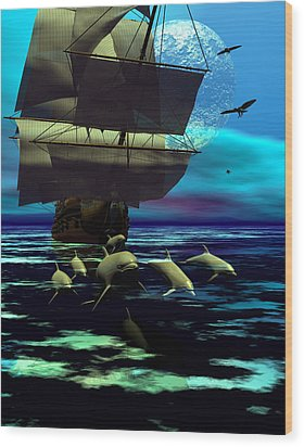 Traveling Companions Wood Print by Claude McCoy