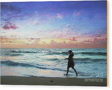 Treasure Coast Florida Seascape Dawn D6 Wood Print