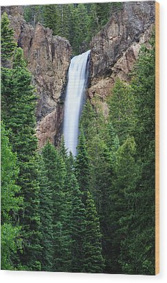 Wood Print featuring the photograph Treasure Falls by David Chandler