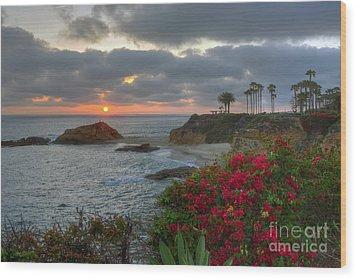Wood Print featuring the photograph Treasure Island Beach Shoreline by Eddie Yerkish