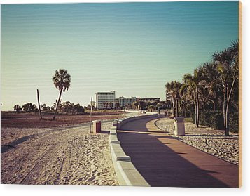Wood Print featuring the photograph Treasure Island Beach Trail by Joel Witmeyer