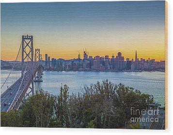 Treasure Island Sunset Wood Print by JR Photography