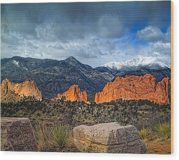Wood Print featuring the photograph Treasures Of Colorado Springs by Tim Reaves