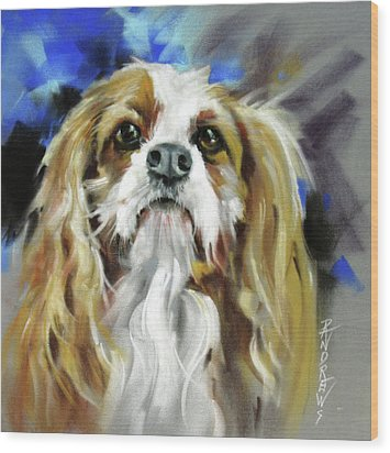 Treat Expectations Wood Print by Rae Andrews