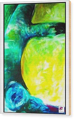 Wood Print featuring the painting Tree 2 Peninsula Rain Forest by Carol Rashawnna Williams