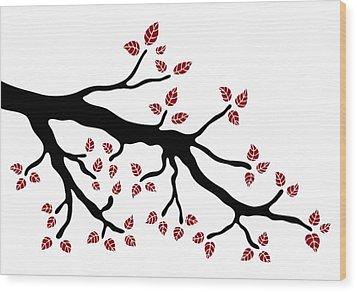 Tree Branch Wood Print by Frank Tschakert