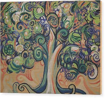 Tree Candy Wood Print by Genevieve Esson