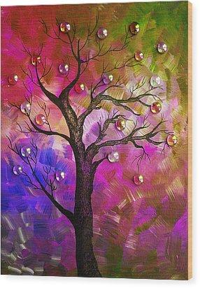 Tree Fantasy2 Wood Print by Ramneek Narang