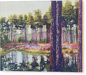 Tree Farm II Wood Print