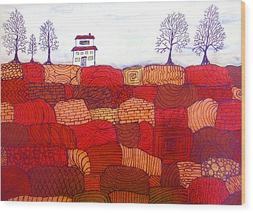Tree Farm Wood Print