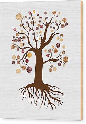 Tree Wood Print by Frank Tschakert