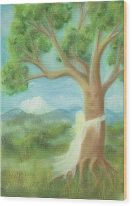 Tree Hugger Wood Print
