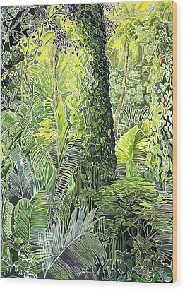 Tree In Garden Wood Print by Fay Biegun - Printscapes