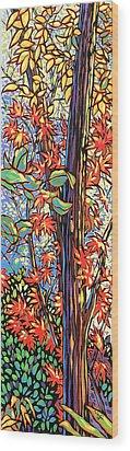 Tree Long Wood Print by Nadi Spencer