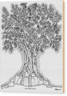 Tree Of Life 1 Wood Print by Glenn McCarthy Art and Photography