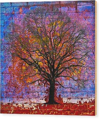 Tree Of Life Wood Print by David Clanton