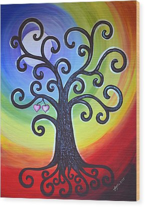 Tree Of Life Love And Togetherness Wood Print