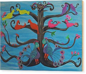 Tree Of Life Wood Print by Melanie Wadman