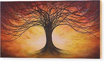 Tree Of Life Wood Print by Michael Lang