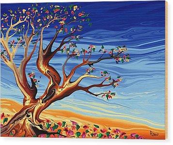 Tree Of Life Wood Print by Robin Monroe