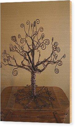 Tree Of Life Wood Print by Shawna Dockery