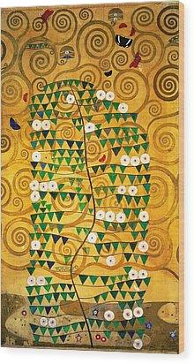 Tree Of Life Stoclet Frieze Wood Print by Gustav Klimt