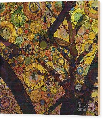 Wood Print featuring the digital art Tree Of Prosperity by Klara Acel