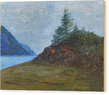 Tree On Turnagain Wood Print