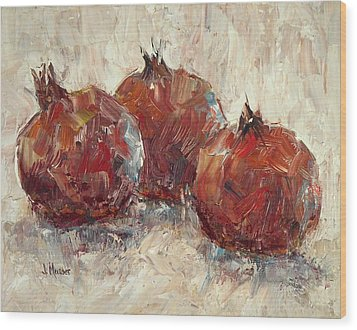 Three Pomegranates Wood Print