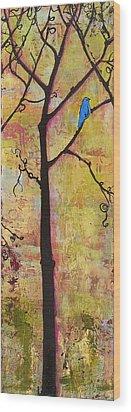 Tree Print Triptych Section 2 Wood Print by Blenda Studio
