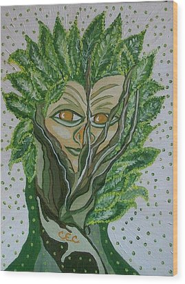 Tree Sprite Wood Print by Carolyn Cable