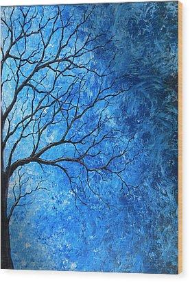 Tree Swirls Wood Print by Sabrina Zbasnik