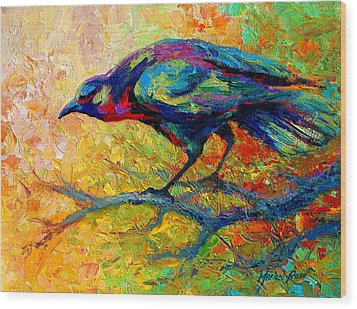 Tree Talk - Crow Wood Print by Marion Rose