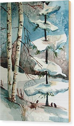 Tree Talkers Wood Print by Mindy Newman