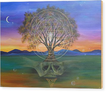 Tree Yantra Wood Print by Sundara Fawn